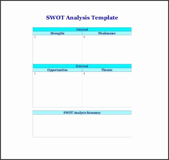 swot analysis template pdf