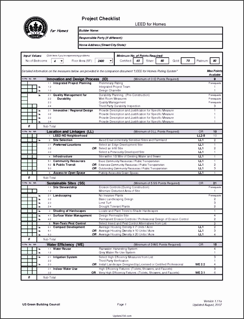 construction project management checklist template