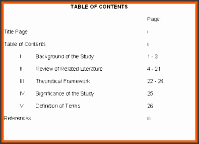 sample table of contents table of contents sample table of