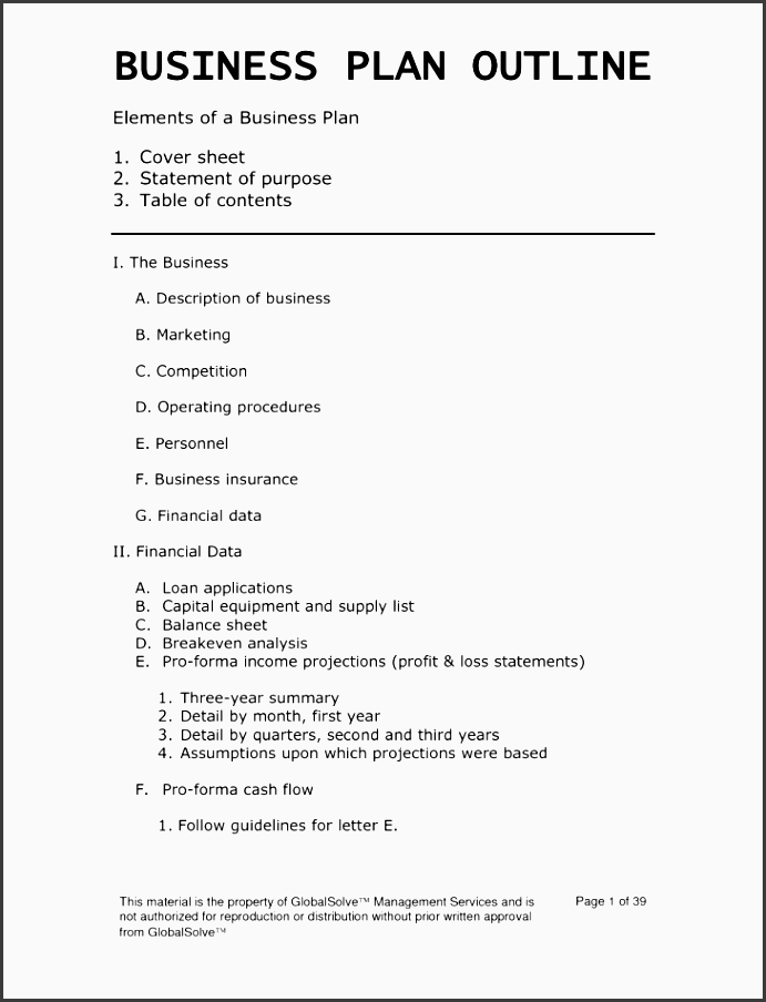 business plan template medium size business plan template large size