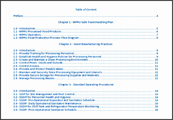 table of contents 22 free word pdf documents free