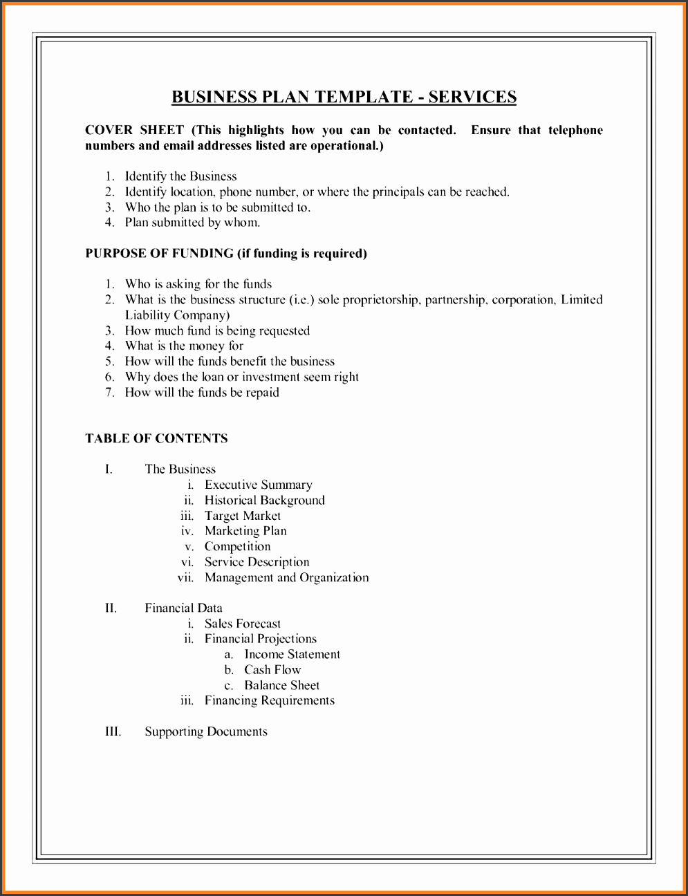 Table Of Contents Template Online SampleTemplatess - Magazine business plan template