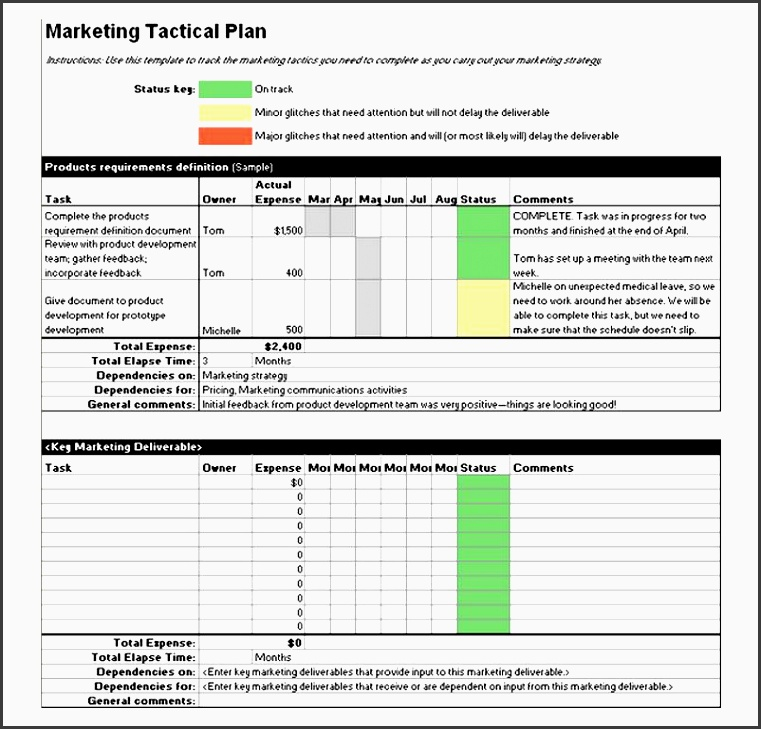 business tactical plan template tactical marketing plan template marketing tactical plan template free