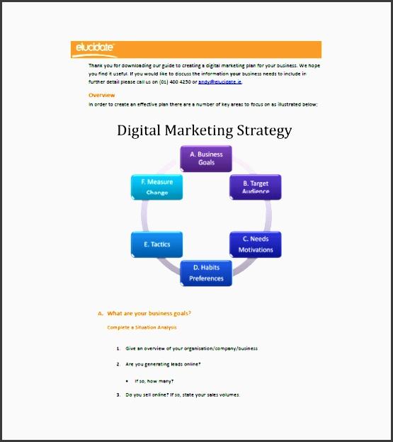 digital marketing plan for startup