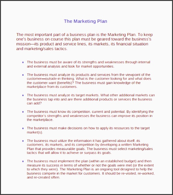 marketing action plan template 9 documents in pdf