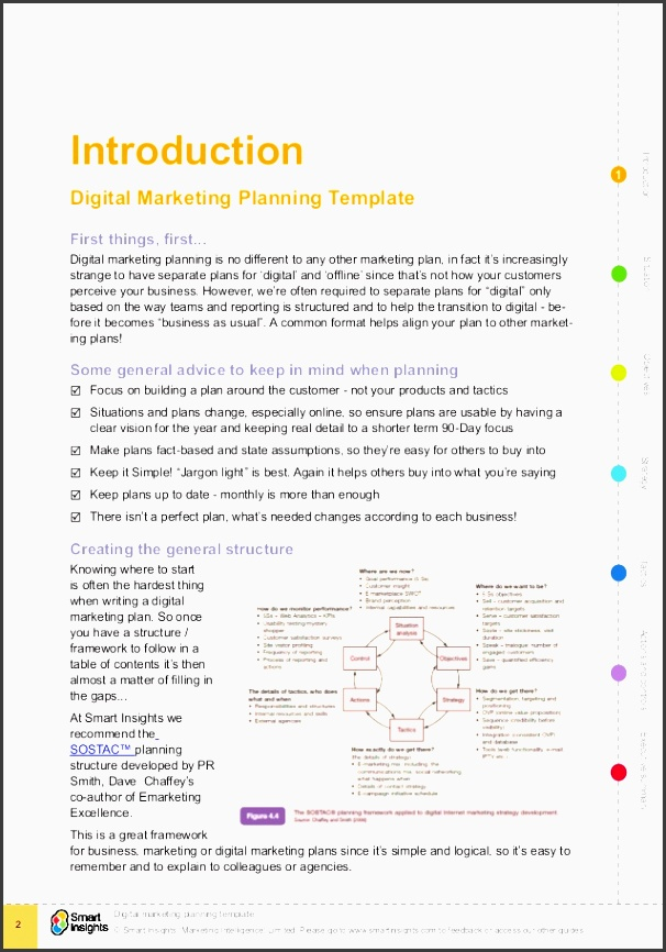 2 introduction introduction 1 digital marketing planning template