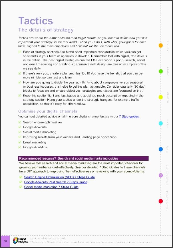 16 introductionactionsandcontrol ecutivesummarytacticsstrategyobjectivessituation smart insights marketing