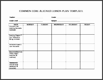 teacher friendly mon core lesson plan template by photochick 039 s with regard