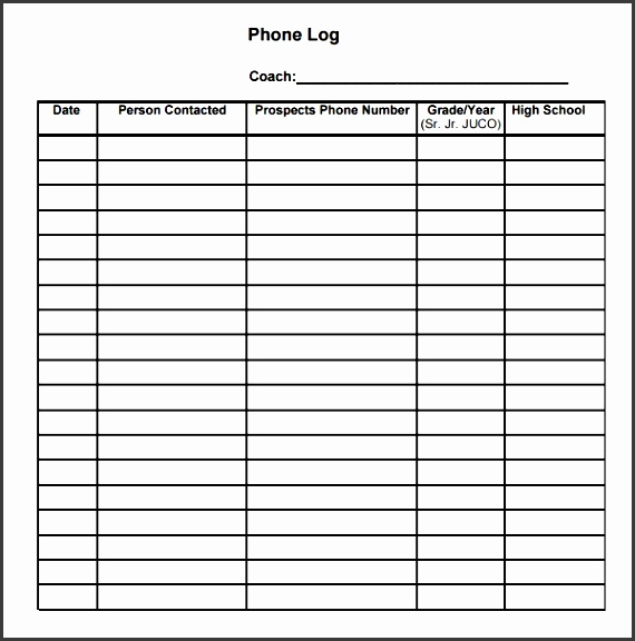 customer phone log template easy to edit in excel