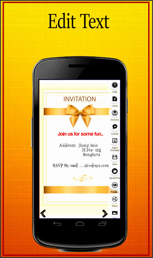party invitation card maker screenshot
