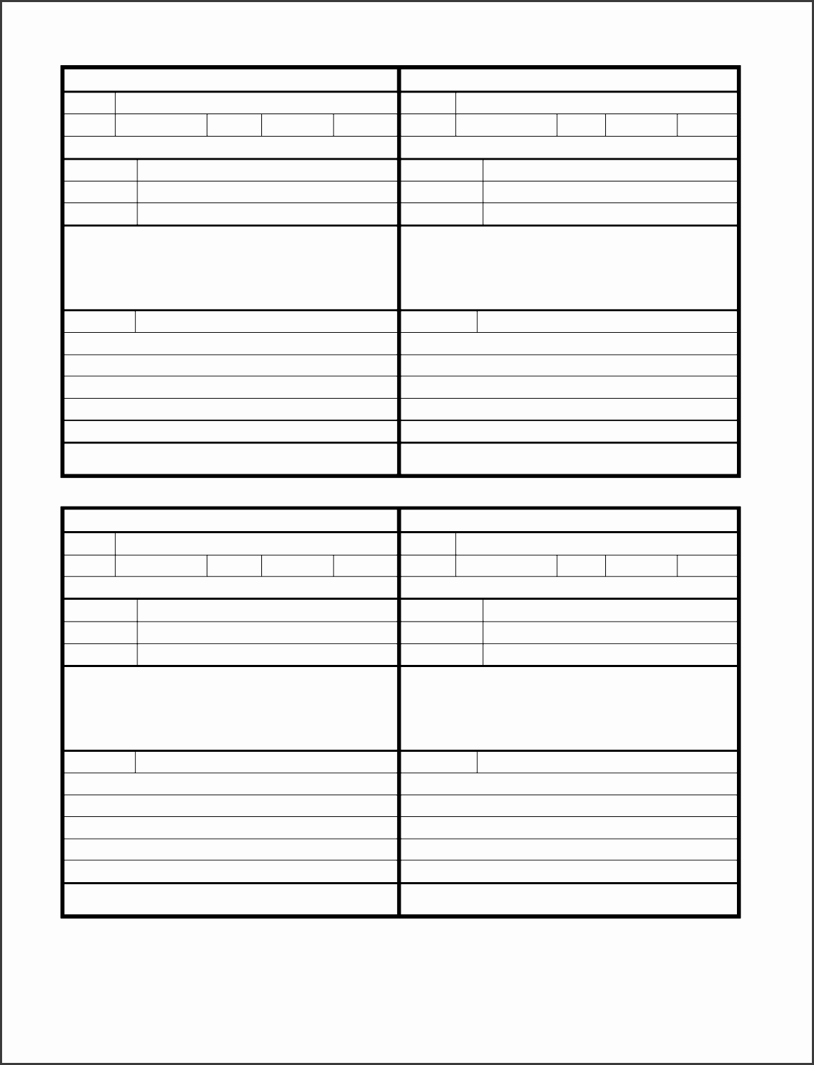 phone message log templates