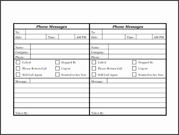 printable phone message log sheet design