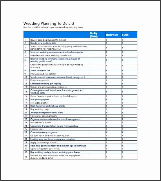printable wedding to do list template