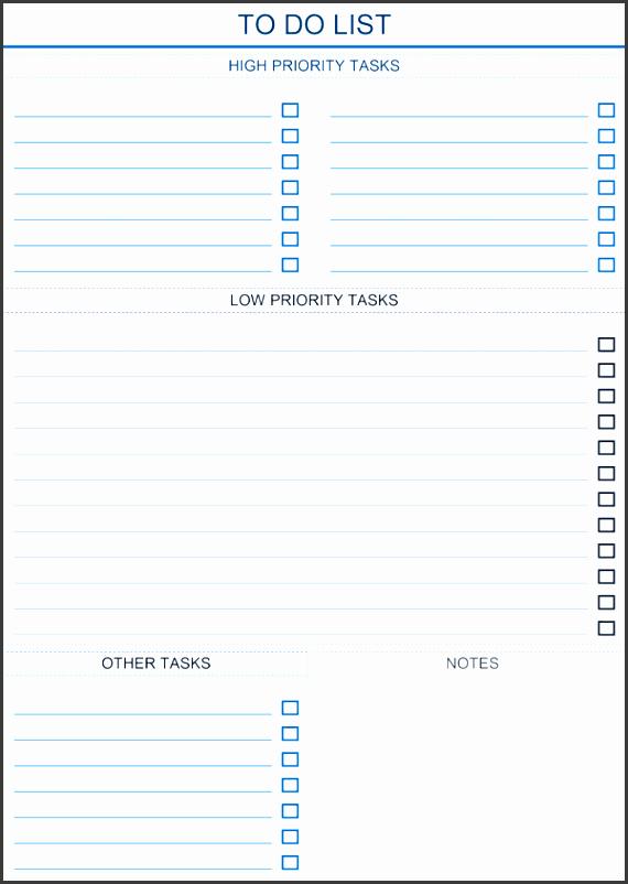 prioritized to do list light