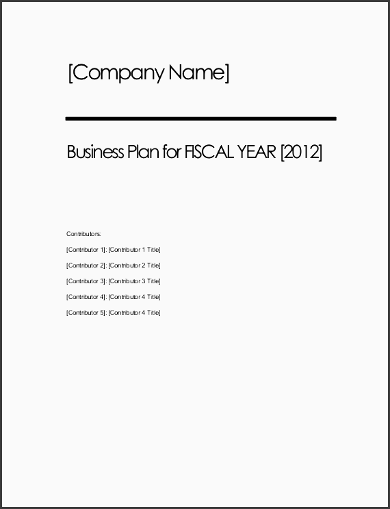 business plan structure sample