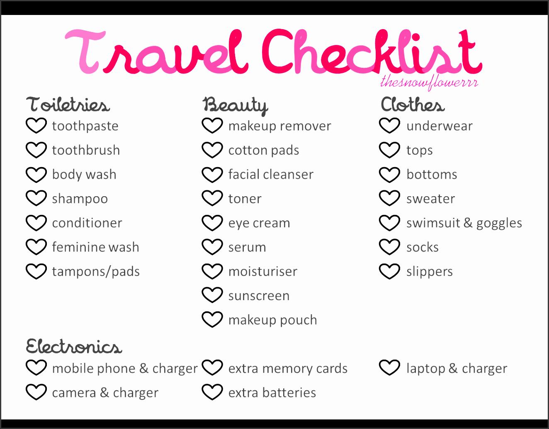 holiday to do list template travelchecklistthesnowflowerrr yyzuin