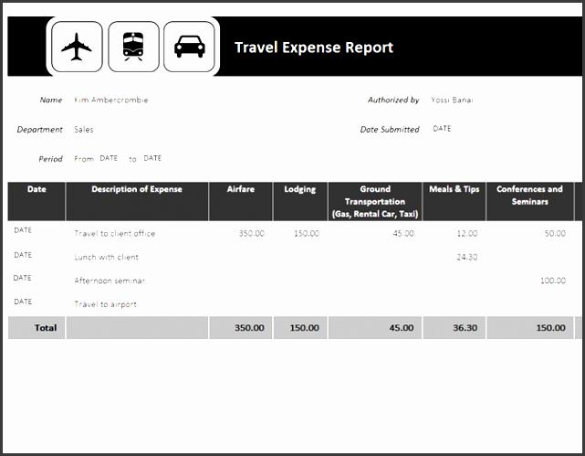 travel expense report