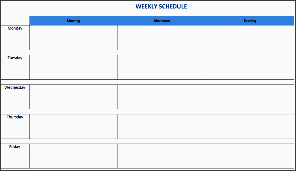 1 weeklyscheduletemplateexcel en in a weekly excel schedule