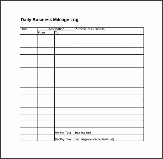 6 truck mileage log template - sampletemplatess