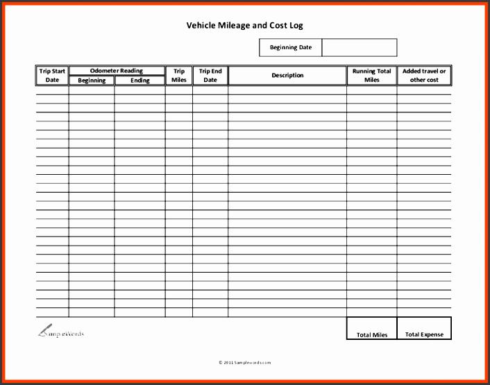 vehicle mileage log mileage log template 666 resize7282c563 8