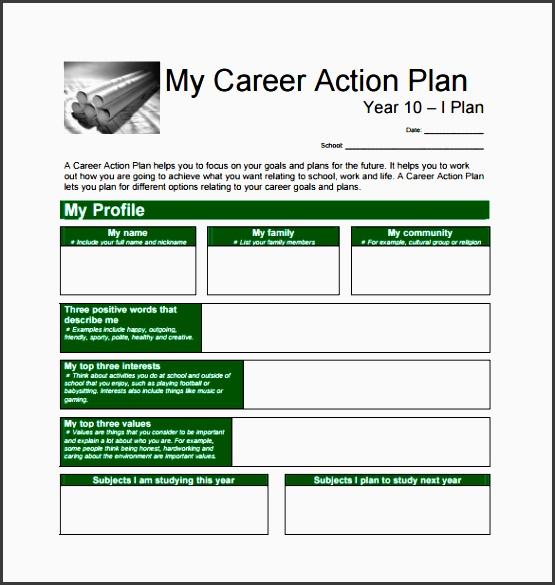 my career action plan pdf free