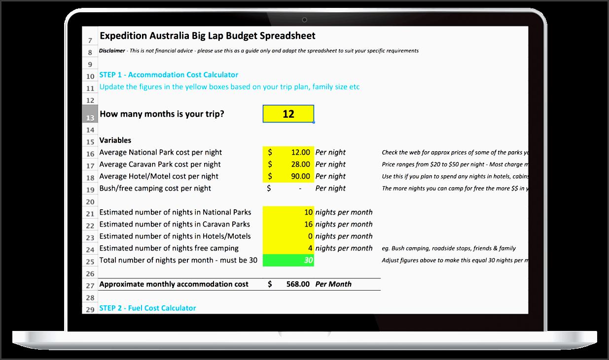big lap spreadsheet on laptop 1