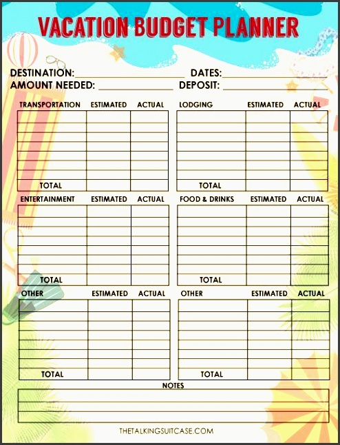 save money and keep your travels on bud with this free printable travel bud worksheet