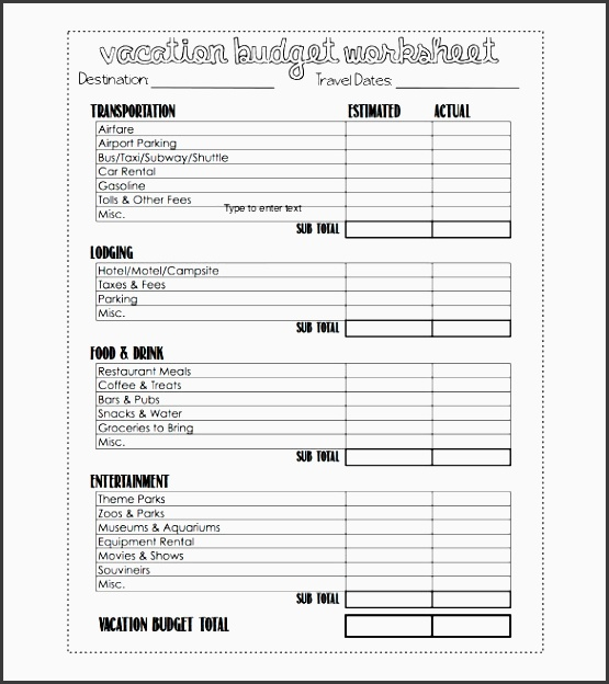 holiday bud planner template
