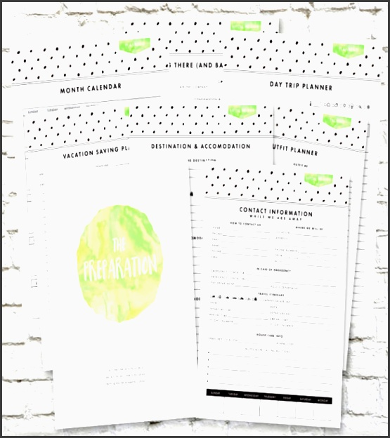 vacation bud planner template