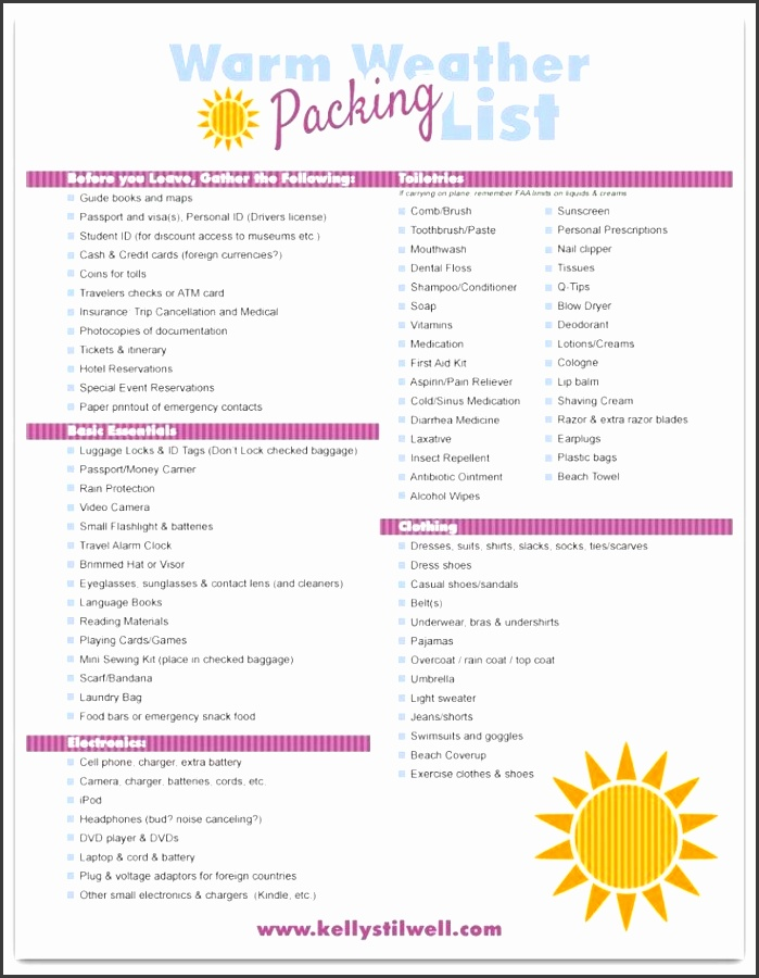 6 tips for vacation packing free printable vacation packing lists