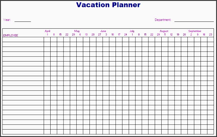here is preview of this vacation planner template created using ms
