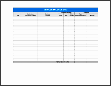 vehicle mileage log 1 fill in the blanks 2 customize template 3 save as print share sign done