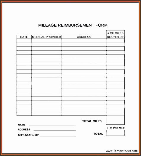reimbursement form holder sample employee ripping mileage