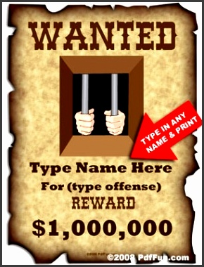 your own wanted poster in make your own wanted poster template