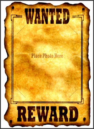 these are the templates sixth grade art students may choose from to create their wanted poster