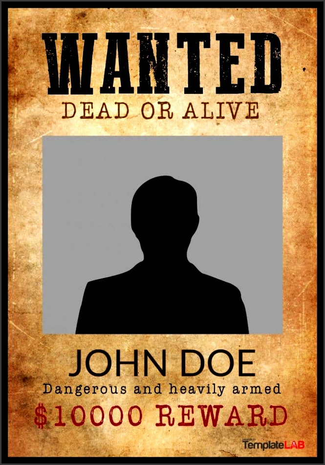 powerpoint wanted poster template 29 free wanted poster templates fbi and old west template