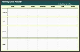 weekly meal planner small