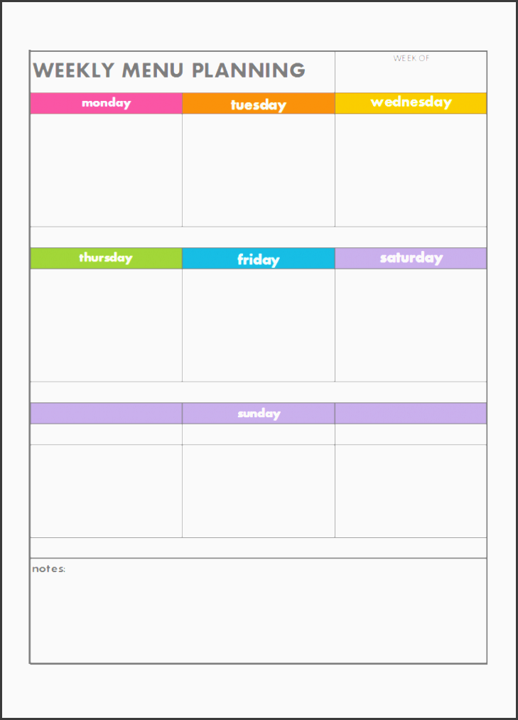 weekly 2bmenu 2bplan 2bcolour 2bcoded 2bblank