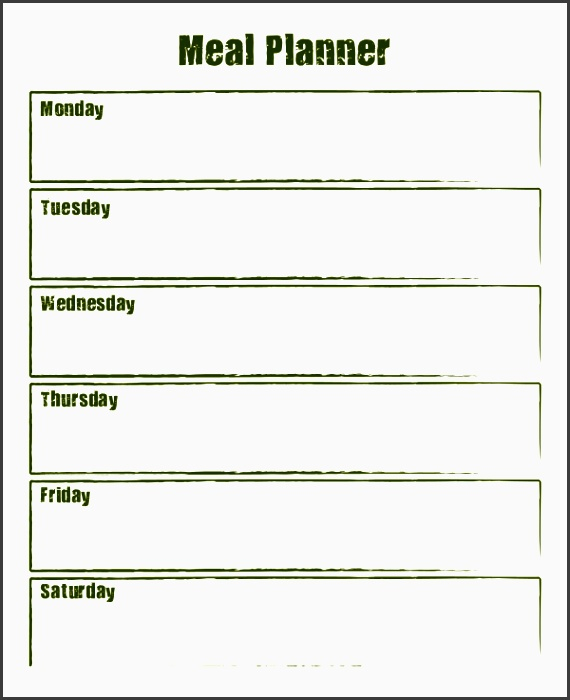 weekly meal planner 10 free pdf psd documents free
