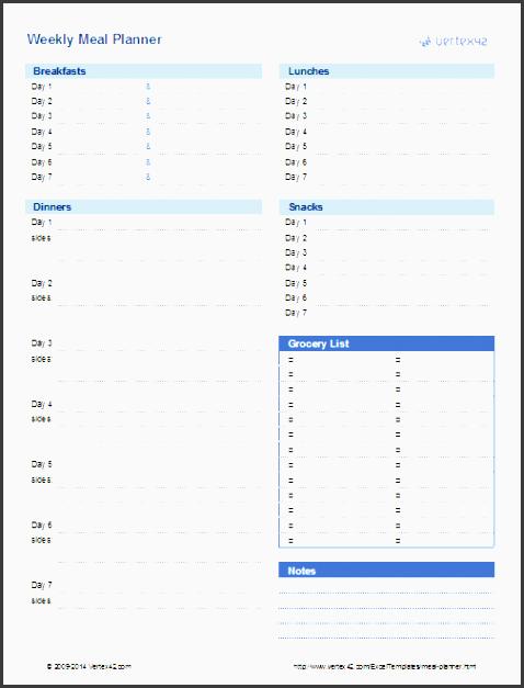 weekly meal planner design 3