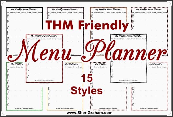 thm friendly menu planner 15 styles