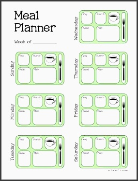 meal planner template more