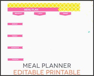 fillable meal planner