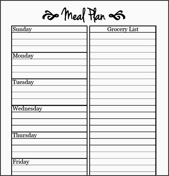 meal template