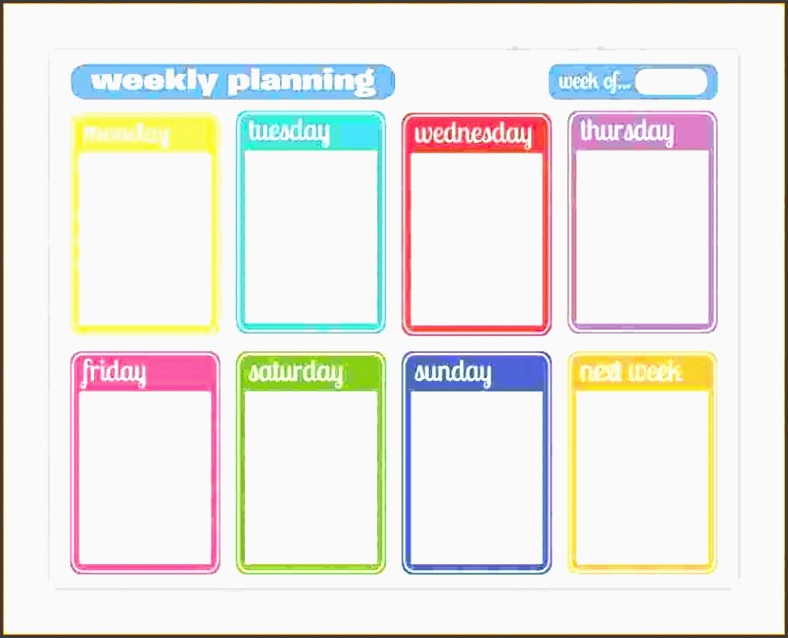 planner template word