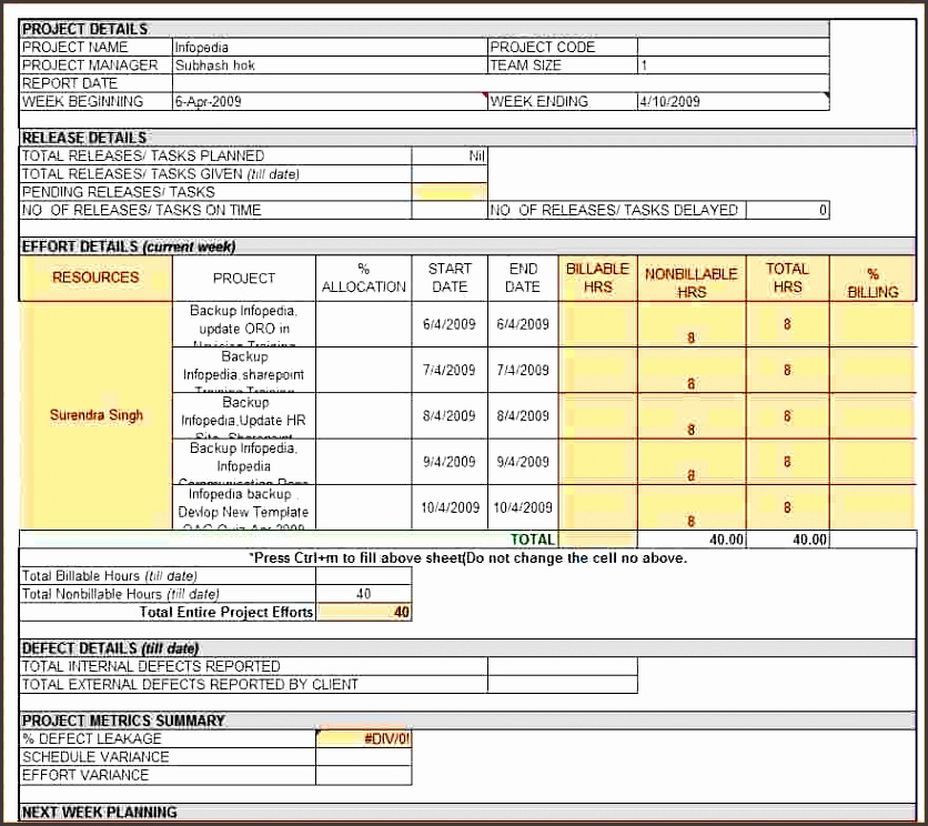 7 weekly report template registration statement 2017