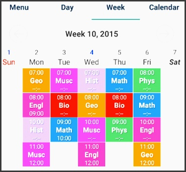 edit follow and list with easy school planner android