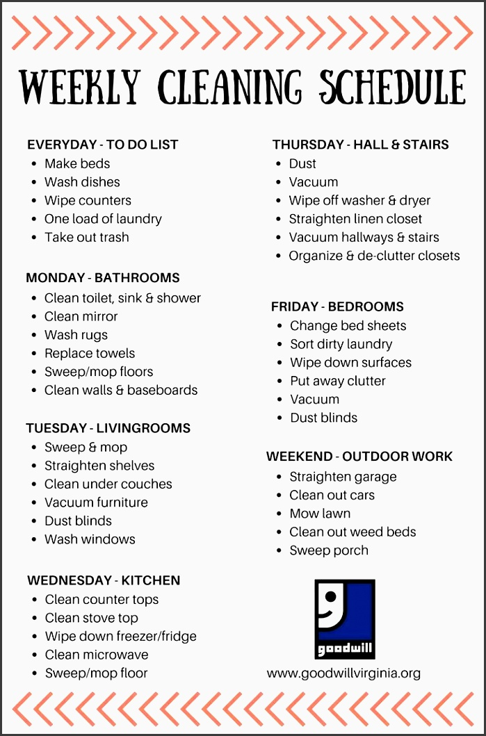 cleaning schedule made simple
