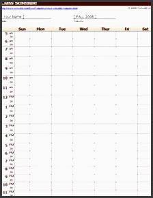 a free weekly class schedule template for excel customize and print a simple class
