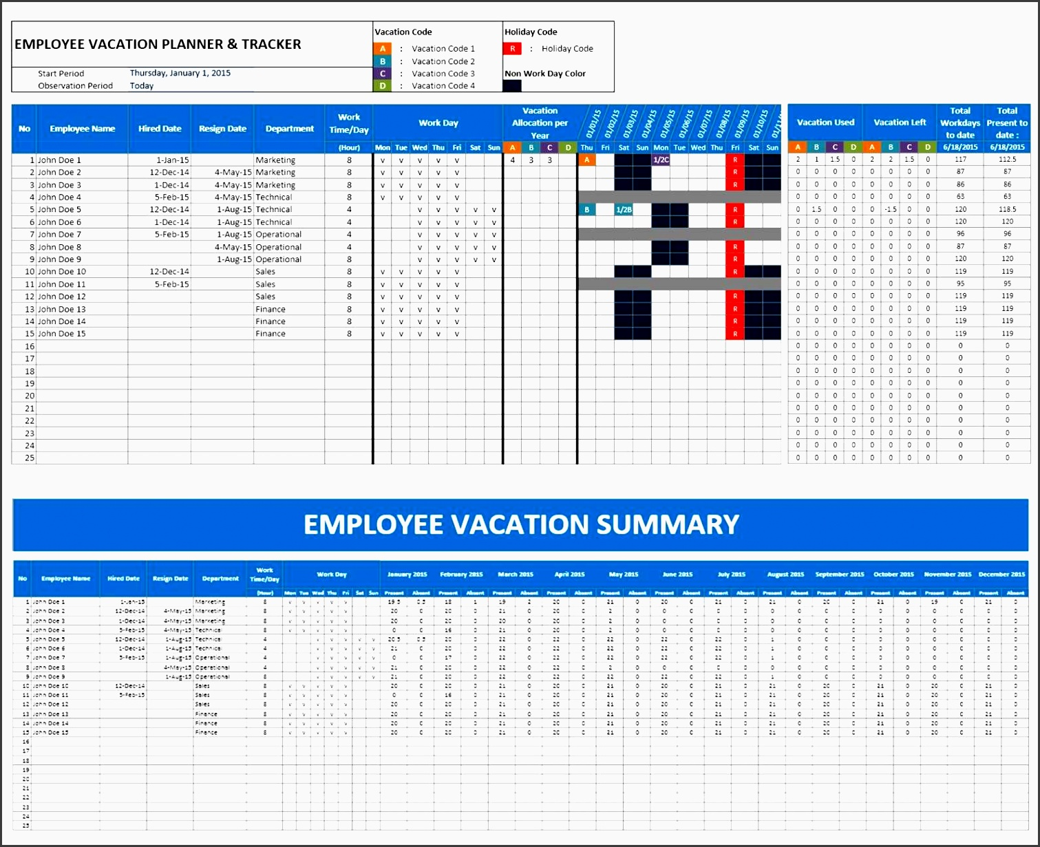 simple employee database manager employee vacation planner